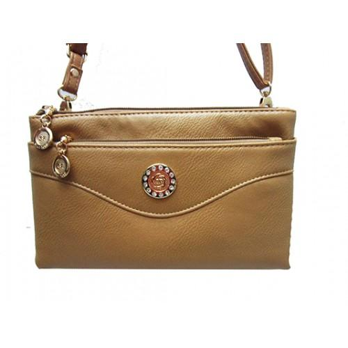 Женская сумка клатч Артикул 150 бежевый монета