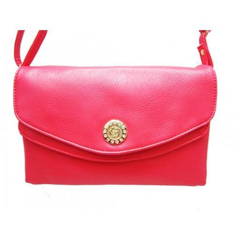 Женская сумка клатч Артикул 150 розовый кнопка