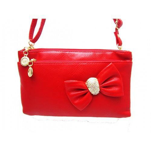 Женская сумка клатч Артикул 150 красный бант