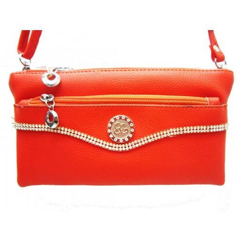 Женская сумка клатч Артикул 150 красный кольцо