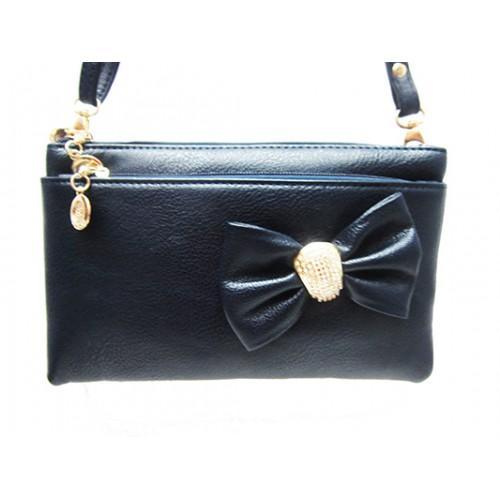 Женская сумка клатч Артикул 150 синий бант