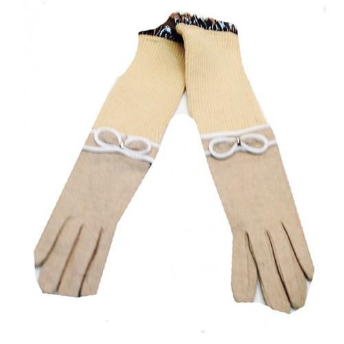 Женские перчатки Bao JI Артикул Ю-025 бежевые