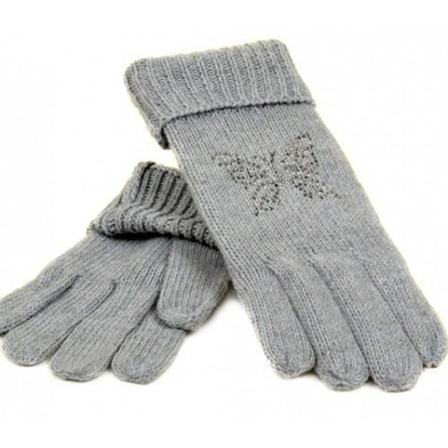 Женские перчатки вязка Мари Fashion Артикул К180-В серые