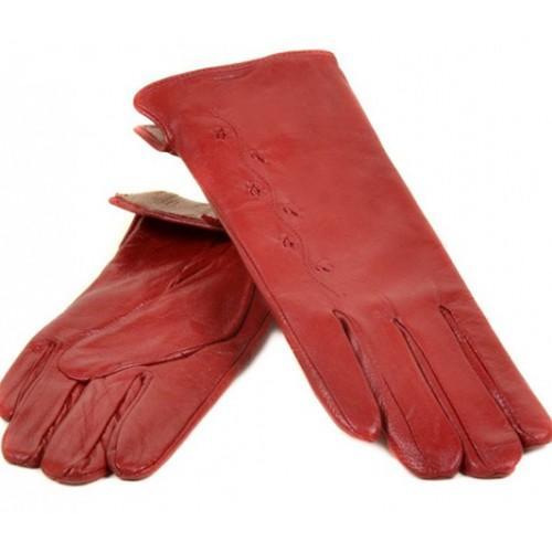 Женские перчатки Мари Classic Артикул F23-7 красные