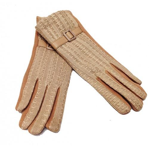 Женские перчатки Мария х/б Артикул  P-004 светло-бежевые