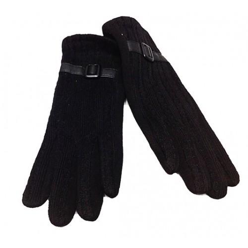 Женские перчатки Мария х/б Артикул  P-004 черные