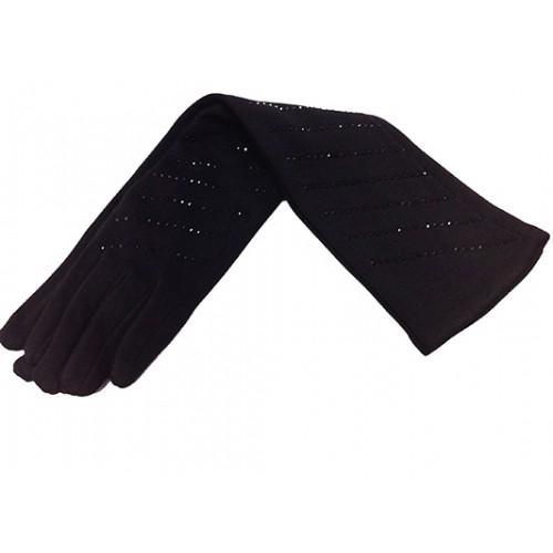Женские перчатки Тепло длинные Артикул P-41 черные