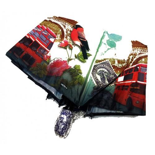 Женский зонт Paolo Rosi  полуавтомат Артикул P- 456 Лондон