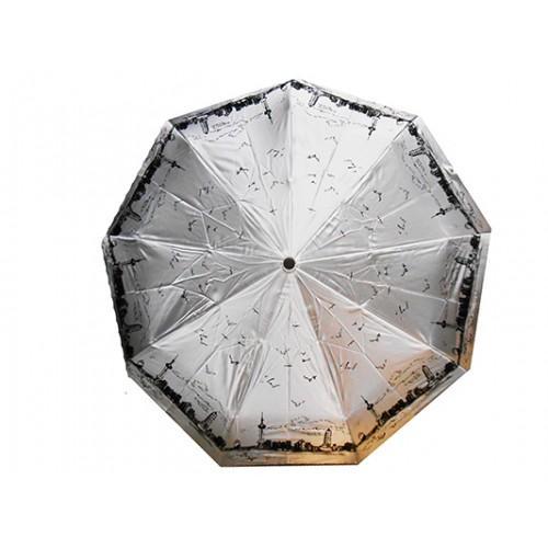 Женский зонт Sneter автомат Артикул 482 серый лондон