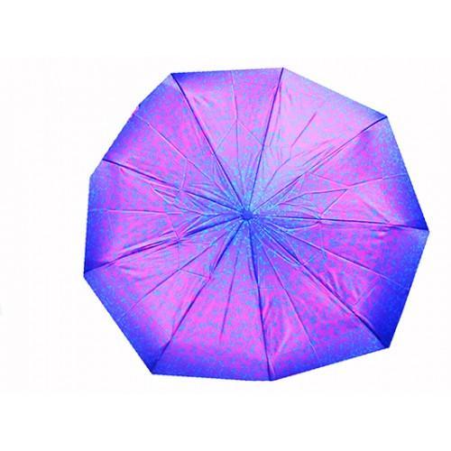 Женский зонт автомат 3 сложения River Артикул 1818 фиолетовый