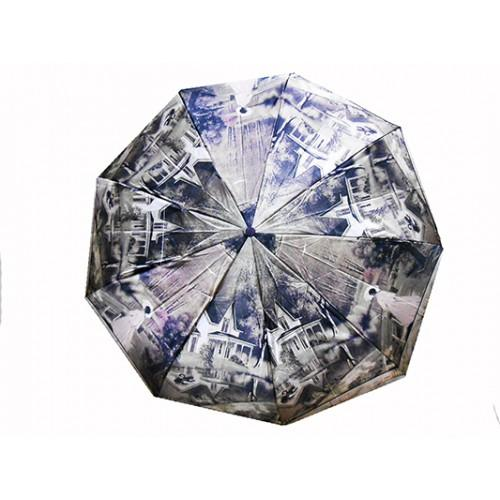 Женский зонт автомат 3 сложения River Артикул 2325 №09