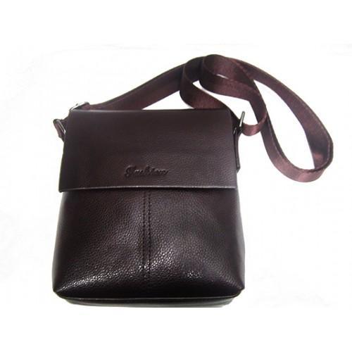 Мужские барсетки Fashion маленькая Артикул 7684-1 коричневый