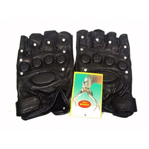 Мужские перчатки без пальцев Boxing Артикул Ю120 черные
