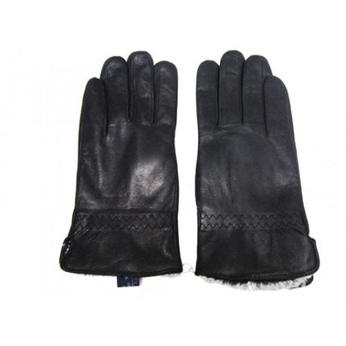 Мужские перчатки кожа Boxing Артикул Ю135-мех кролик №02