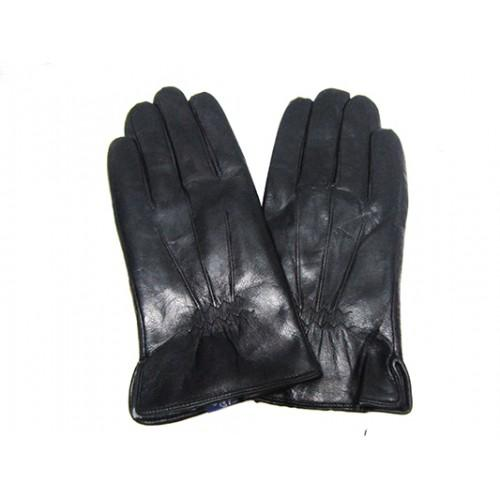 Мужские перчатки кожа Boxing Артикул Ю135-мех кролик №06