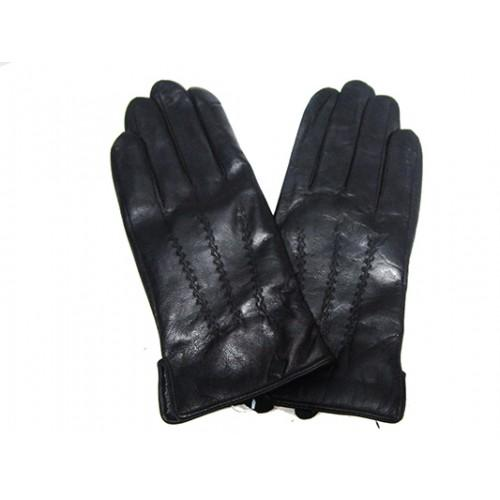 Мужские перчатки кожа Boxing Артикул Ю135-мех кролик №05