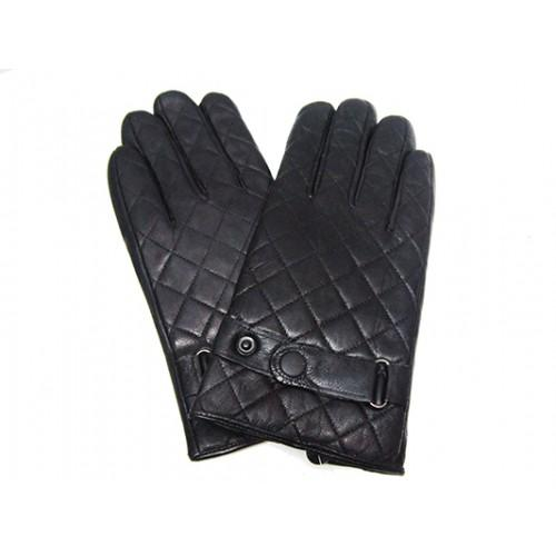 Мужские перчатки кожа Boxing Артикул Ю135-мех кролик №07