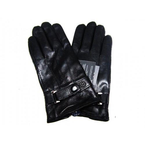 Мужские перчатки кожа Boxing Артикул Ю135-мех кролик №09