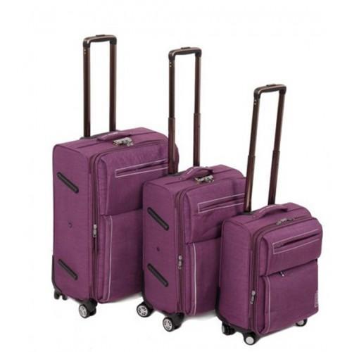Набор чемоданов 3 в 1 на 4-х колесах замок код Артикул 104 фиолетовый
