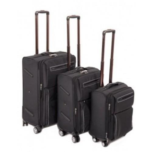 Набор чемоданов 3 в 1 на 4-х колесах замок код Артикул 104 черный
