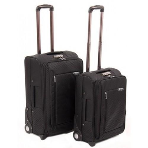 Набор чемоданов 2 в 1 на 4-х колесах замок код Артикул 104 черный