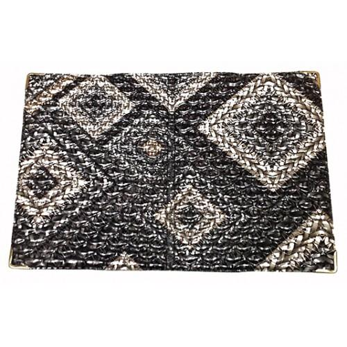 Обложка на паспорт Украина Артикул 010 плетенка серый
