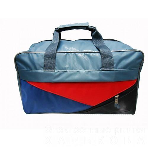 Спортивно-дорожная сумка с логотипом Артикул 130 красная вставка