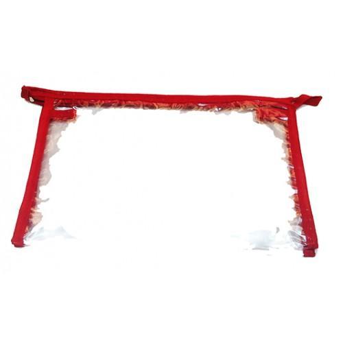 Женская прозрачная косметичка Артикул 052 узкая красная кайма