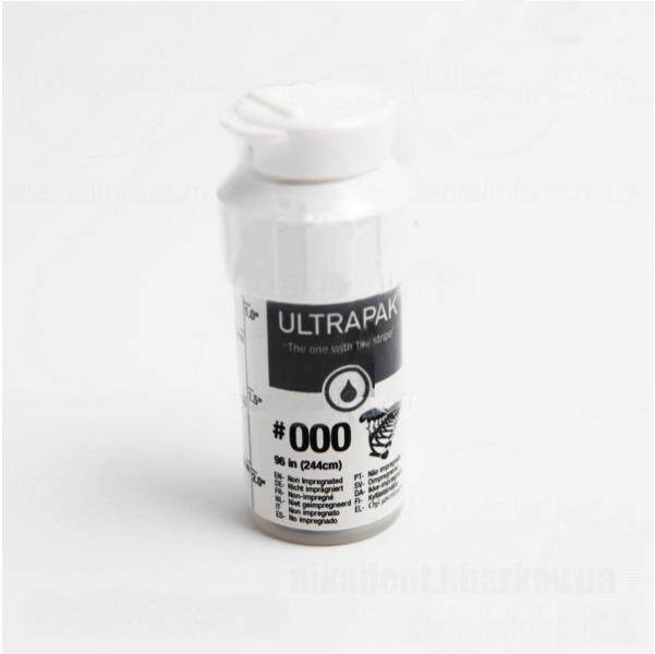 Фото Для стоматологических клиник, Расходные материалы Нить ретракционная Ultrapak №000 без пропитки (ULTRADENT)