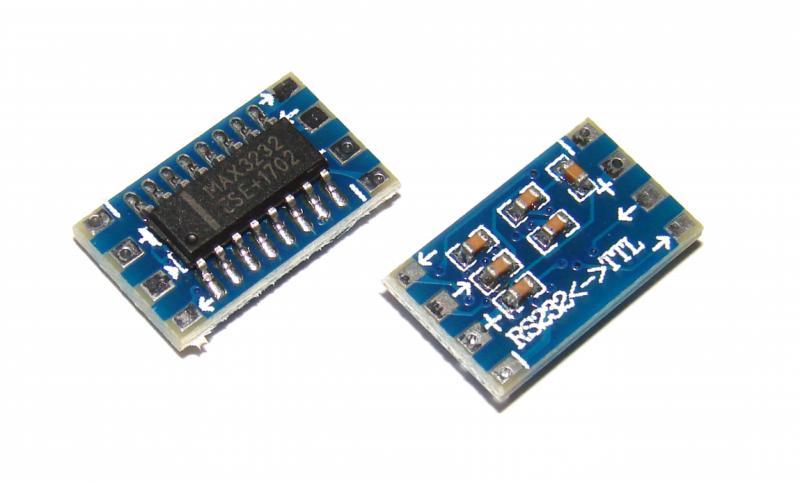 Мини конвертер адаптер RS232 в TTL на MAX3232 Arduino