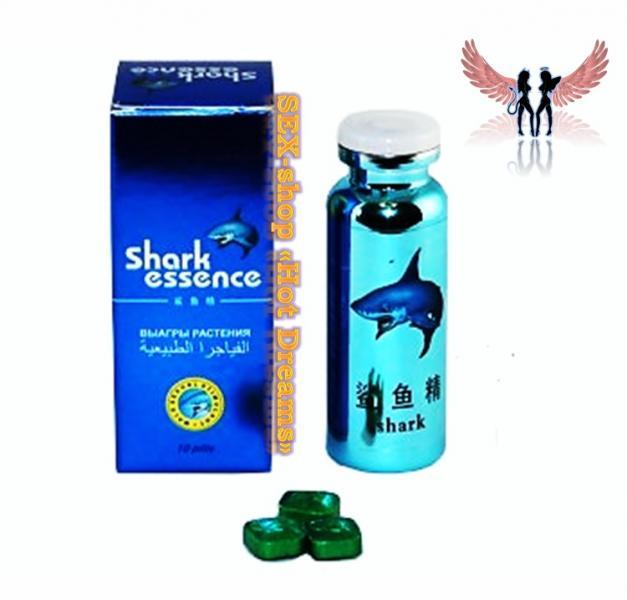 Фото Препараты для повышения потенции (капсулы, капли, таблетки, порошки) Таблетки Shark Essence (Акулий Экстракт)-растительный стимулятор потенции