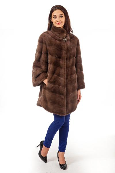 Фото Шубы из норки Норка скандинавская рубашка стойка