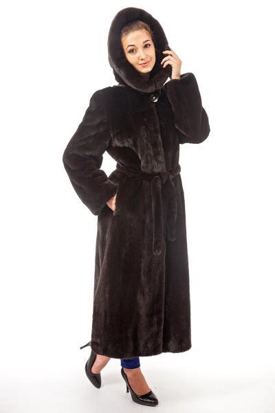 Фото Шубы из норки Норка Blacknafa пальто,капюшон