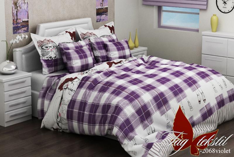 Фото ДЕТСКИЙ ТЕКСТИЛЬ, Постельное детское полуторное Комплект постельного белья R2068 violet