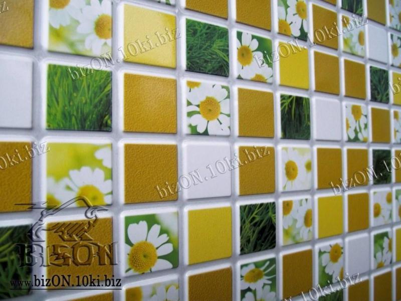 Фото Листовые панели ПВХ Декоративная Мозаика «РОМАШКА»   Листовые панели ПВХ