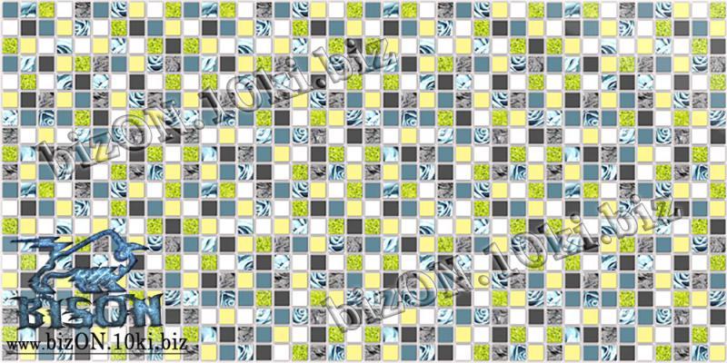 Фото Листовые панели ПВХ Декоративная Мозаика «ГОЛУБАЯ РОЗА»   Листовые панели ПВХ