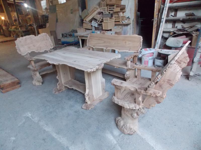 Мебель деревянная  садовая. Комплект. Эксклюзив.