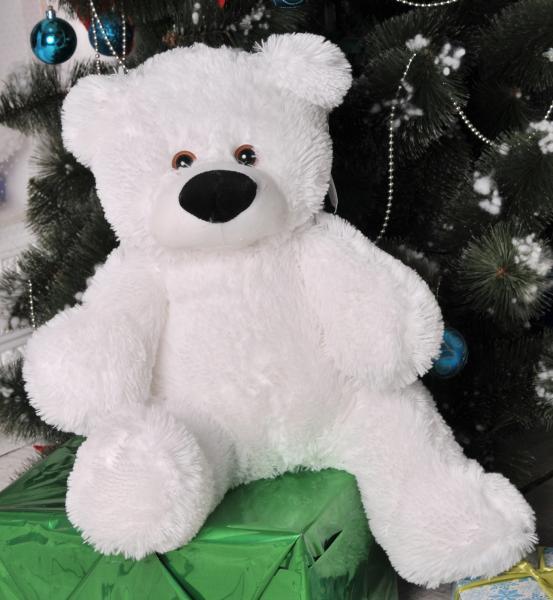 Плюшевый медведь 50 см белый