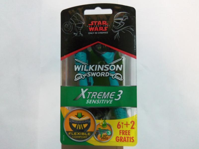 Станок одноразовый WILKINSON SWORD EXTREME, 8 штук в упаковке, Германия.