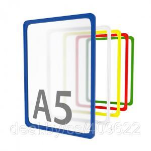 Фото Пластиковые рамки Рамка пластиковая стандартная с закругленными углами А5