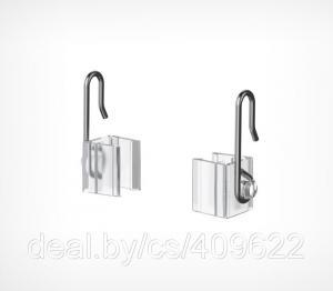 Фото Крепежные аксессуары для пластиковых рамок Крючок с подвижным основанием для подвешивания пластиковых рамок HG-CL-W