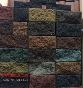 Фото  Блок демлер цементно-песчаный декоративный цветной в Бресте