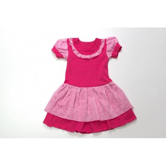 Фото НОВИНКИ Платье для девочек (интерлок+батист+шифон)