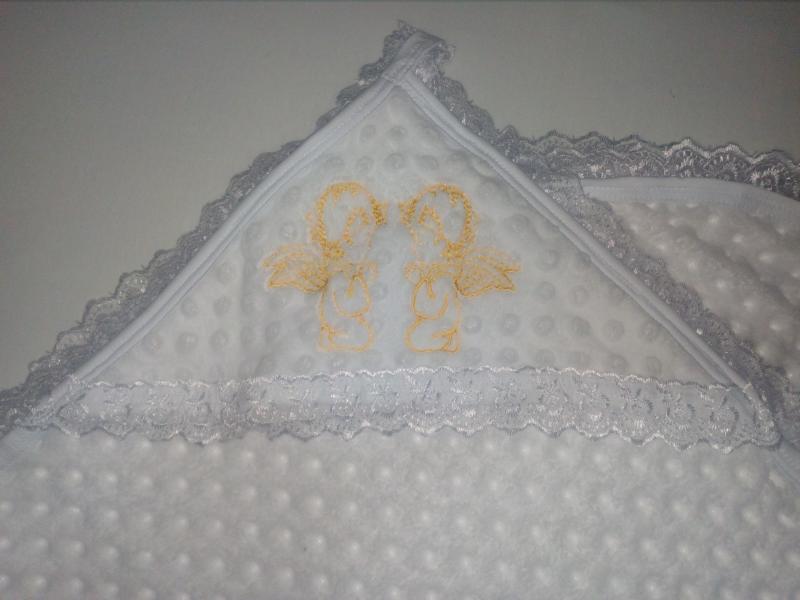 Фото НОВИНКИ Крестильное полотенце с уголком