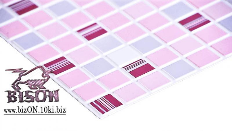 Фото Листовые панели ПВХ Мозаика «КОФЕ РОЗОВЫЙ»   Листовые панели ПВХ