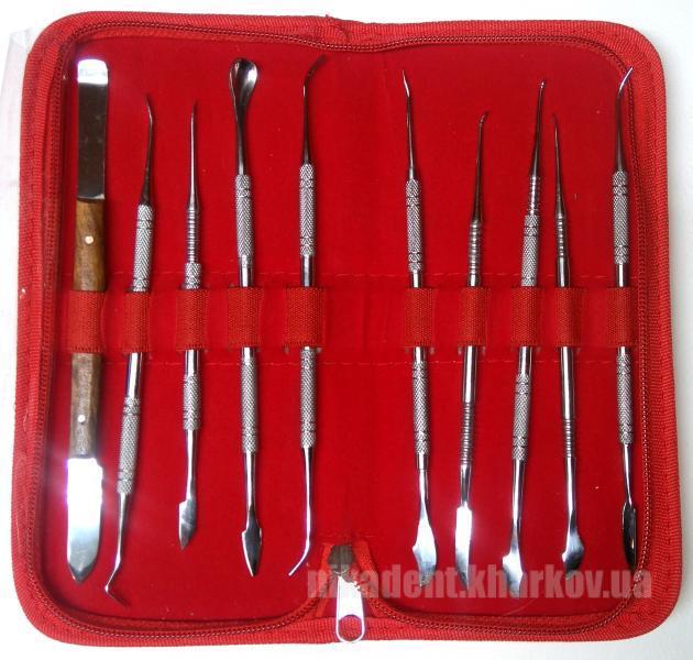 Фото Для зуботехнических лабораторий, АКСЕССУАРЫ, Инструменты Набор моделировочных инструментов (10 шт)