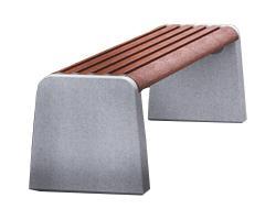 Скамейка с бетонным основанием А-2