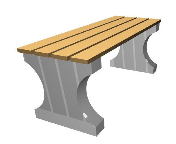 Скамейка с бетонным основанием А-3