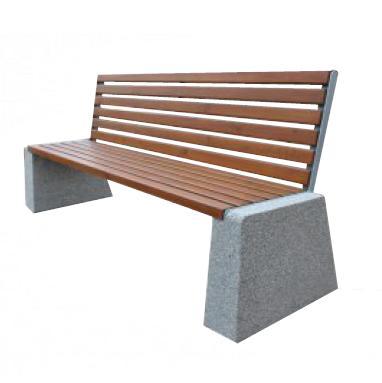 Скамейка с бетонным основанием А-5