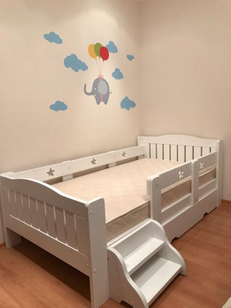 Детская и подростковая кровать 5 Звезд с ящиками и лесенкой